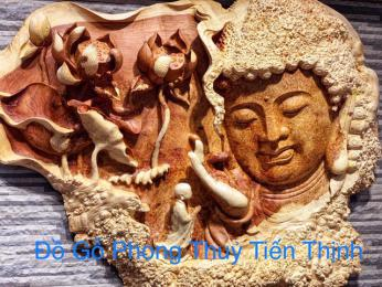 Diên Phật Tổ Gỗ Nu Hương Gia lai Nguyên Tấm