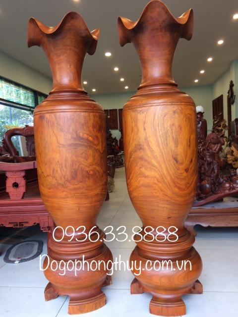 Đôi lộc bình gỗ gụ mật Đaknông
