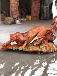 tượng Báo Gỗ Hương Krongpa Gia Lai