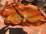 khay trà cá chép sen, gỗ hương krongpa Gia Lai