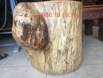 Đôn gỗ hương cao 42cm đường kính 40cm