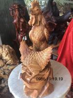 Đàn gà phong thủy gỗ hương, cao 60cm rộng 50cm sâu 23cm