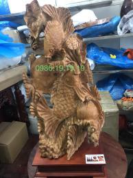 Cá Chép Vượt Vũ Môn Gỗ Ngọc am
