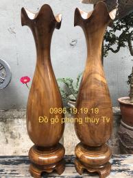 Lộc Bình Tỳ Bà Gỗ Bách Xanh Chun Sụn