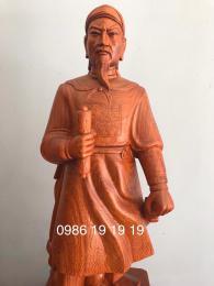 Tượng Trần Hưng Đạo Gỗ Hương k