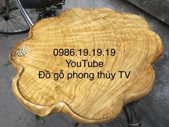 Khay trà gỗ Nu Pơmu tia chun chớp