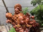 Tượng di lặc gỗ Cẩm lai Krongpa