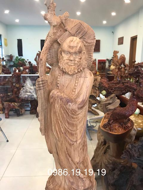 Tượng Đạt ma gỗ Ngọc Am Hà Giang
