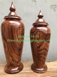 Đôi bình tài Lộc gỗ Cẩm Krongpa Gia lai