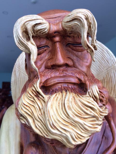 Tượng Đạt Ma Thiền gỗ Nu câm lai