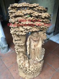 Tượng đạt ma cây Tùng gỗ Ngọc am Hà Giang