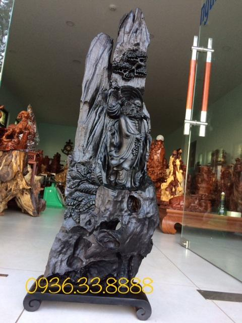 Tượng dạt ma giáo hóa gỗ mun sừng Nha Trang